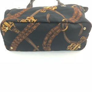 a1cbf8d0830f Lauren Ralph Lauren Bags - LRL Equestrian Canvas Leather Trim Tote Handbag